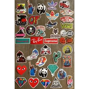 38 clothing shoe brand & miscellaneous stickers